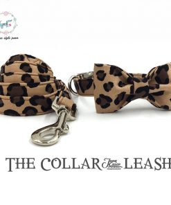 leopard print dog collar and lead