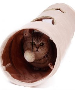 Collapsible Tunnel Toys with Ball for Cats