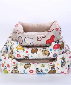 Printed Soft Dog Bed