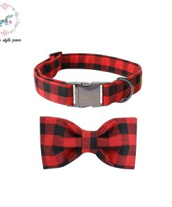 Black & Red Fashion Collar & Leash