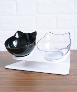 Double Cat Bowl Non-slip Material