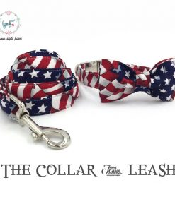 The stars and stripes dog collar
